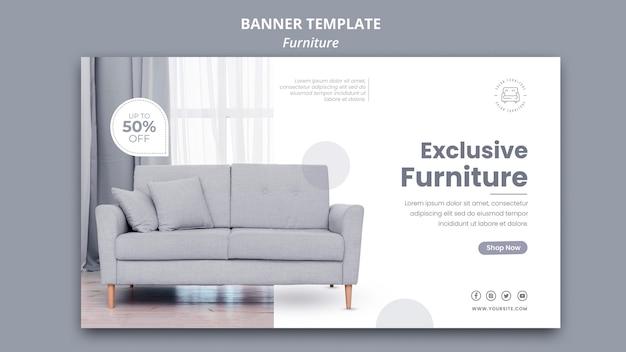 Conception de modèle de bannière de meubles