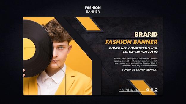 Conception de modèle de bannière de mode