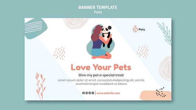 Conception de modèle de bannière pour animaux de compagnie