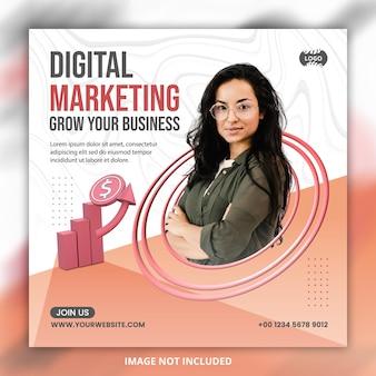 Conception de modèle de bannière de publication de médias sociaux instagram en ligne de marketing numérique