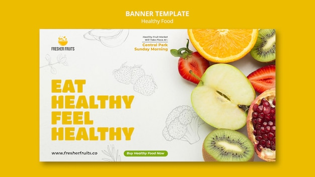 Conception de modèle de bannière de sécurité alimentaire
