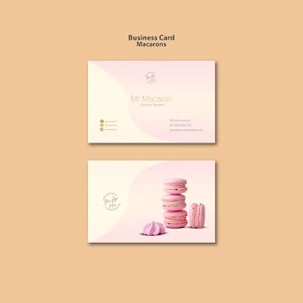 Conception de modèle de carte de visite de macarons