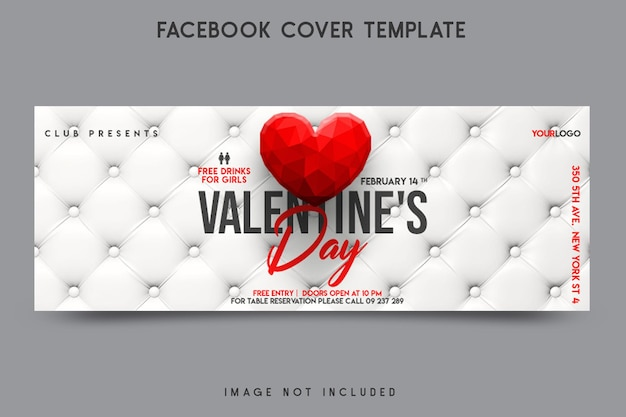 Conception de modèle de couverture facebook saint valentin