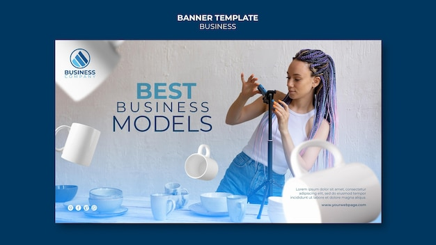 Conception de modèle d'entreprise de bannière