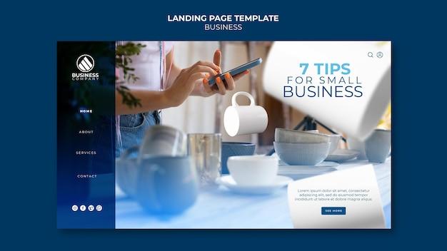 Conception de modèle d'entreprise de page de destination