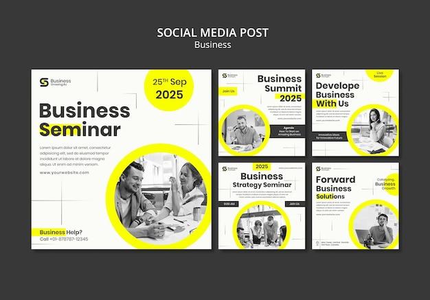 Conception de modèle d'entreprise de publication de médias sociaux insta