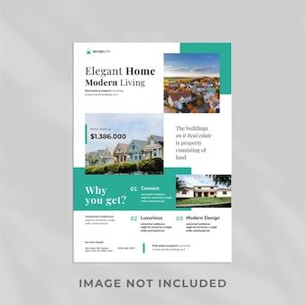 Conception de modèle de flyer immobilier