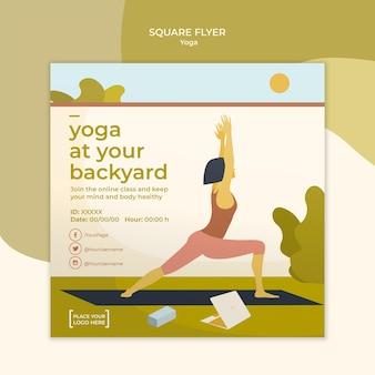 Conception de modèle de flyer de yoga
