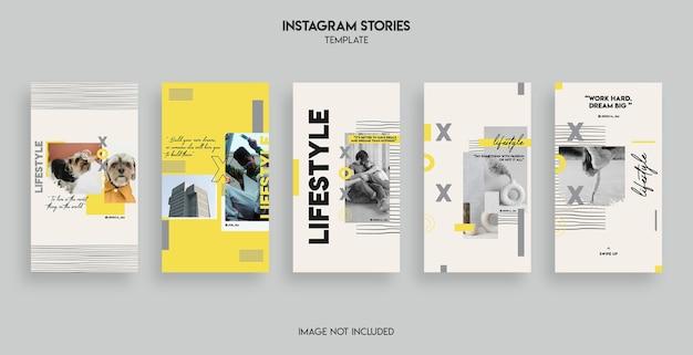 Conception de modèle d'histoires instagram de style de vie