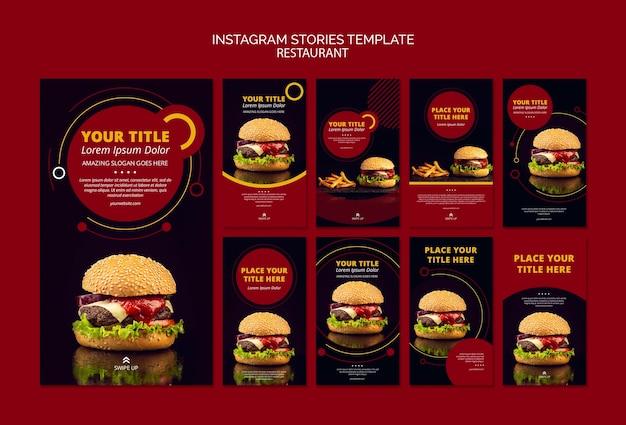 Conception de modèle d'histoires instagram