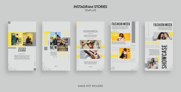 Conception de modèle d'histoires de mode instagram