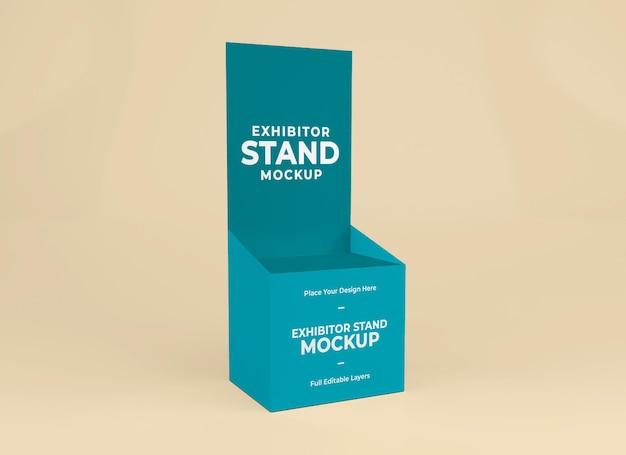 Conception de modèle de maquette de stand d'exposant