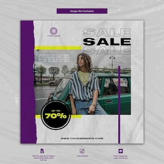 Conception de modèle de médias sociaux de vente de magasin de mode