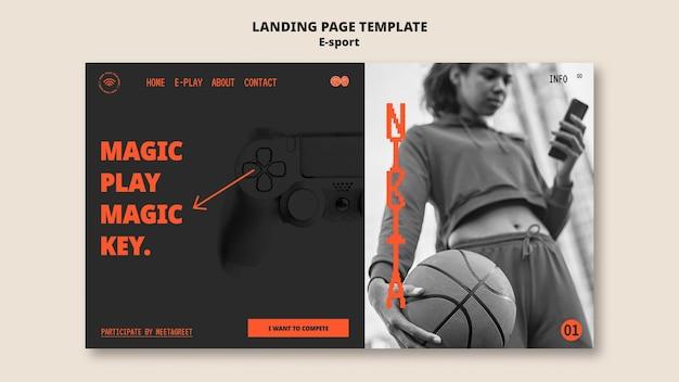 Conception de modèle de page de destination esport