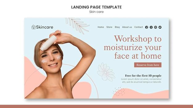 Conception de modèle de page de destination pour les soins de la peau