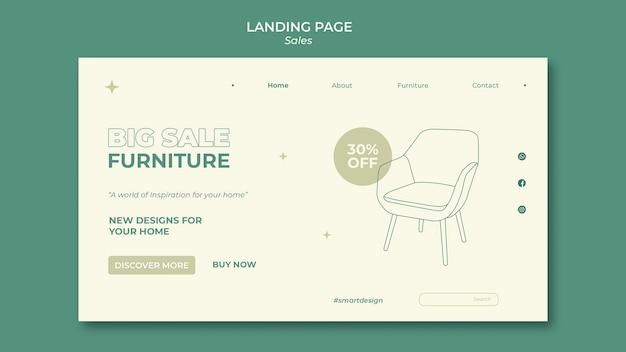 Conception de modèle de page de destination des ventes