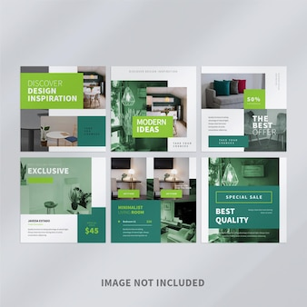 Conception de modèle de publication d'entreprise instagram