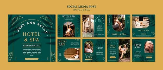 Conception de modèle de publication de médias sociaux de location de vacances de luxe