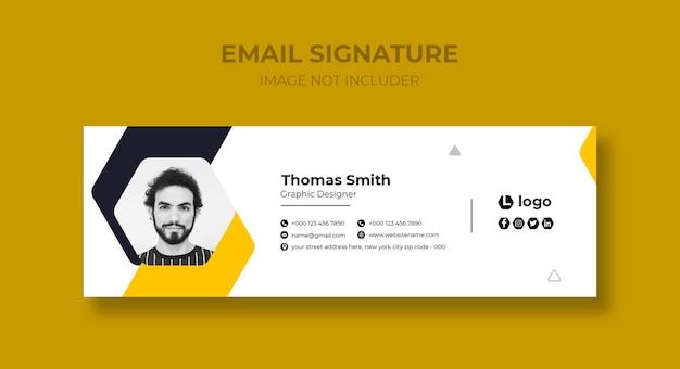 Conception de modèle de signature de courrier électronique ou modèle de couverture facebook