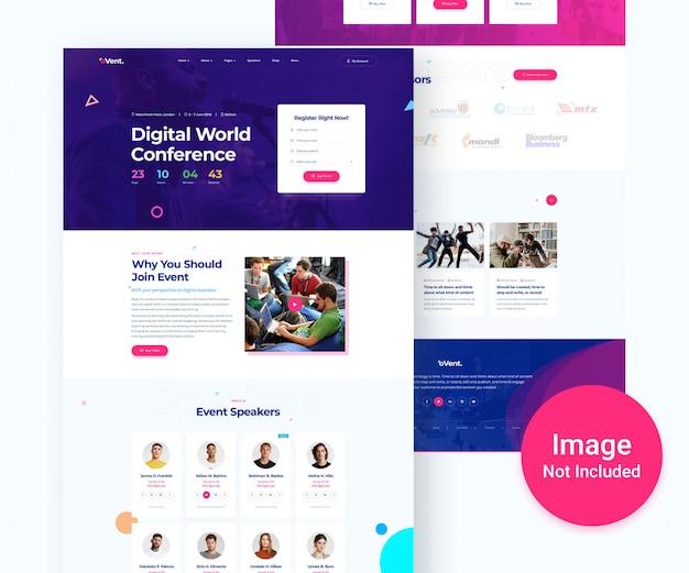 Conception numérique de sites web d'événements et de conférences