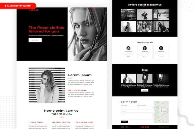 Conception de page de site web d'achat