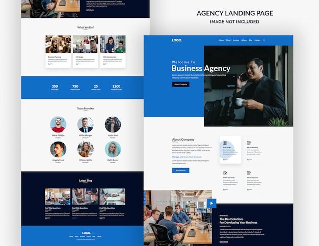 Conception de page de site web d'agence de conception