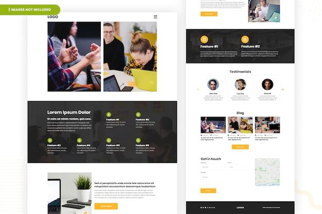 Conception de page de site web d'entreprise