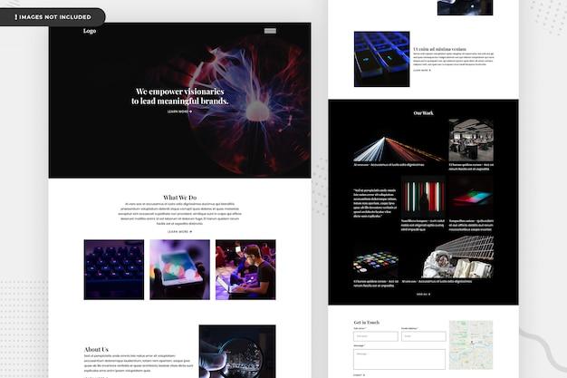 Conception de page de site web de société informatique