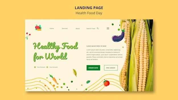 Conception de pages de destination pour la journée des aliments santé