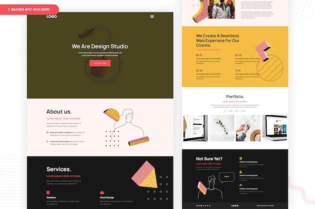 Conception de pages de site web design studio