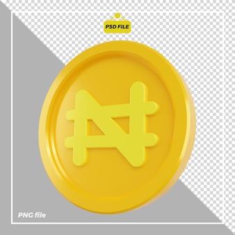 Conception de pièces de monnaie naira 3d