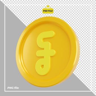 Conception de pièces de monnaie en riel 3d