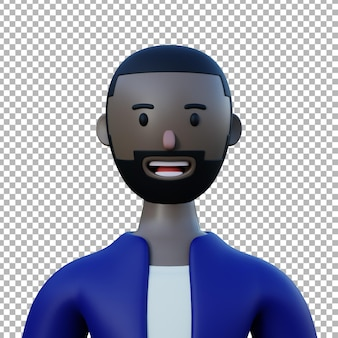 Conception premium d'illustration de personnage 3d