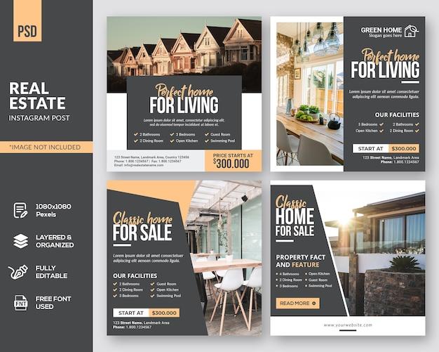 Conception de publication instagram square real estate