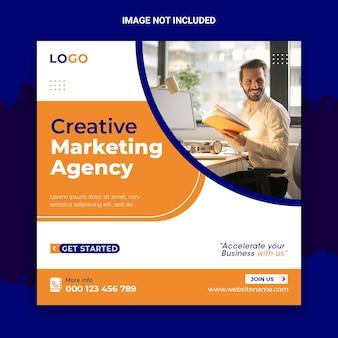 Conception de publication sur les réseaux sociaux de marketing créatif