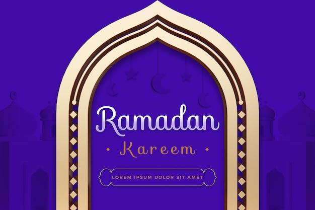 Conception de ramadan kareem avec modèle de rendu 3d