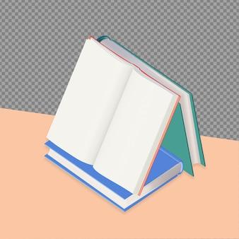 Conception de rendu de livre 3d isolée