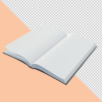Conception de rendu de livre ouvert 3d isolé