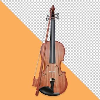 Conception de rendu d'objet violon 3d isolé