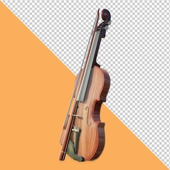 Conception de rendu de vue inclinée de violon 3d isolée