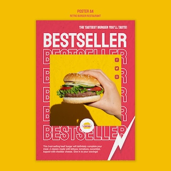 Conception de restaurant burger rétro