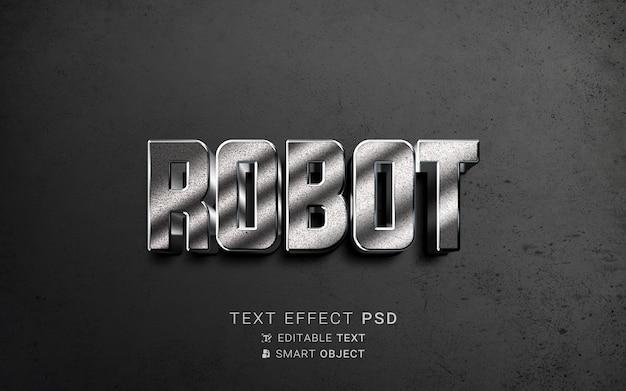 Conception de robot à effet de texte