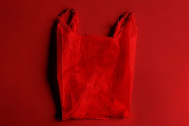 Conception de sac en plastique dangereux rouge