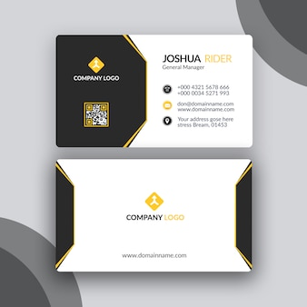 Conception simple de cartes de visite noir et jaune