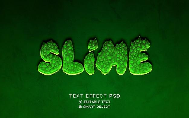 Conception de slime à effet de texte
