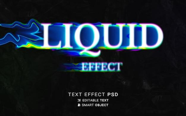 Conception de typographie liquide à effet de texte