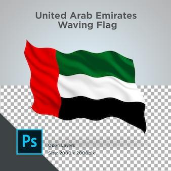 Conception de vague de drapeau des émirats arabes unis transparent