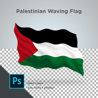 Conception de vague de drapeau palestinien transparent