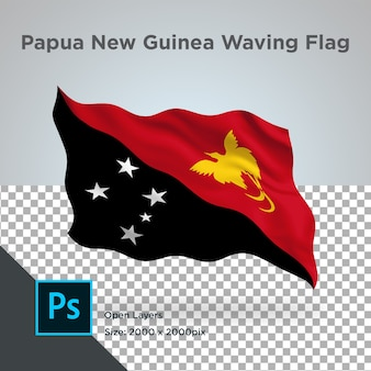 Conception de vague de drapeau de papouasie-nouvelle-guinée transparent