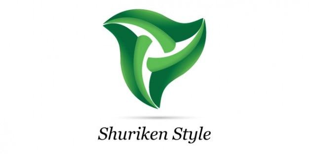 Conception verte shuriken logo